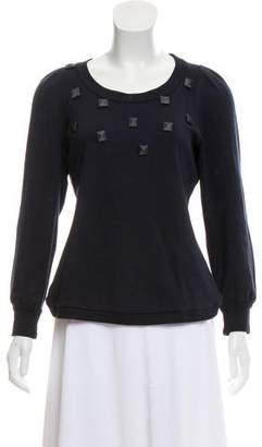 Marc by Marc Jacobs Studded Knit Sweatshirt