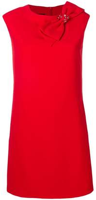 Moschino bow shift mini dress