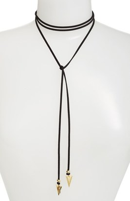 Women's Vanessa Mooney 'Arrow' Faux Suede Lariat Choker $40 thestylecure.com