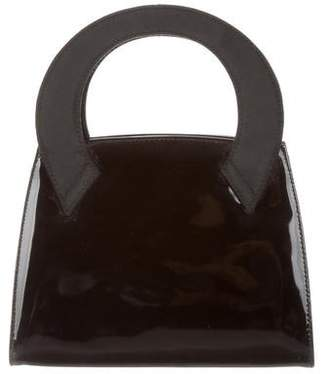 Salvatore Ferragamo Patent Leather Mini Handle Bag