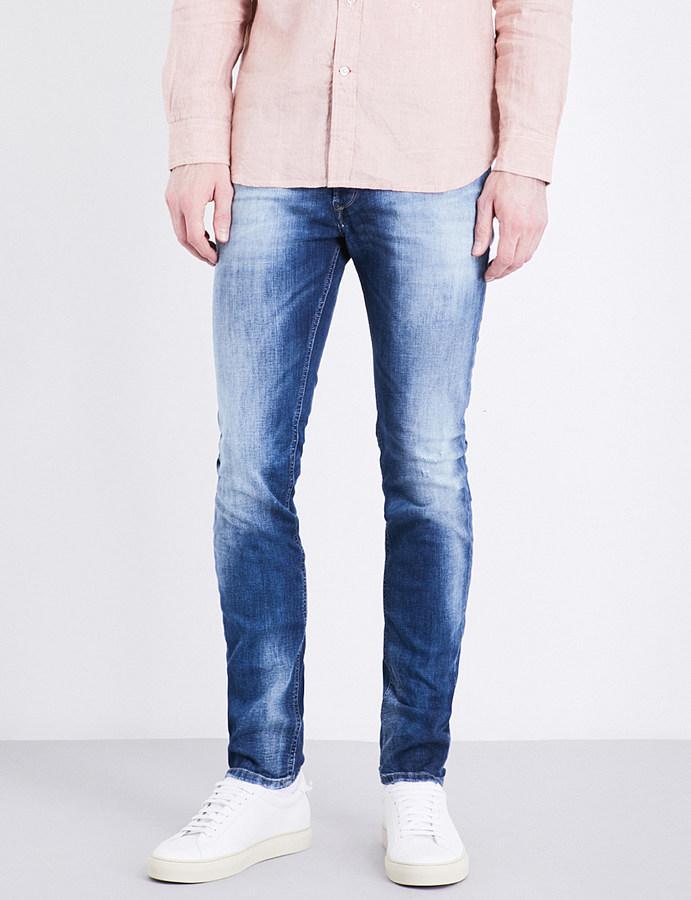 DieselDiesel Sleenker 0860A slim-fit skinny jeans