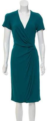 Issa Surplice Neckline Midi Dress