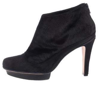 Herve Leger Ponyhair Ankle Boots