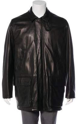 Ralph Lauren Purple Label Leather Long Coat