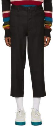 Comme des Garcons Black Gabardine Cropped Trousers