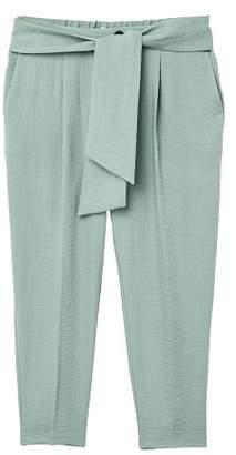 MANGO Bow belt trousers