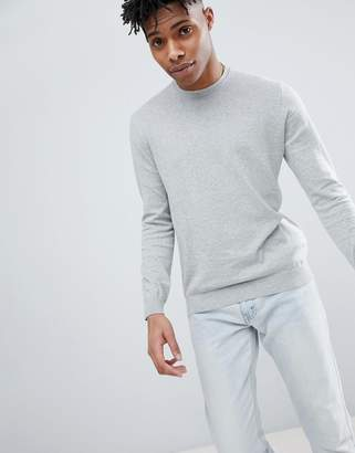Benetton Crew Neck Knit Sweater 100% Cotton