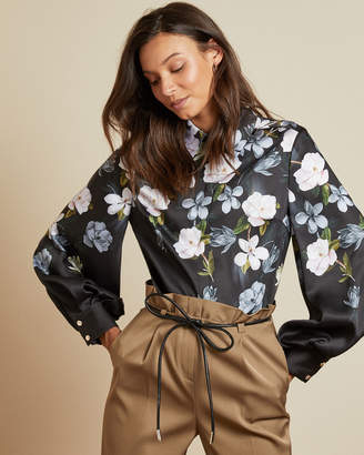 Ted Baker PRIYYA Opal print button up blouse