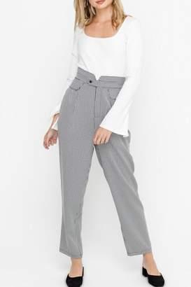 Lush Paper-Bag Pants, Gingham