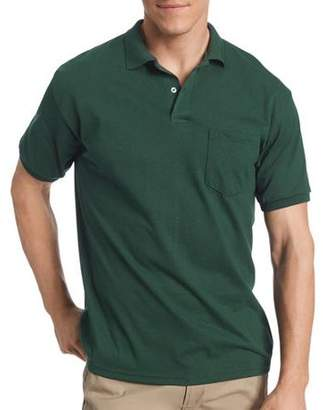 Hanes Big Men's Comfortblend EcoSmart Jersey Polo with Pocket