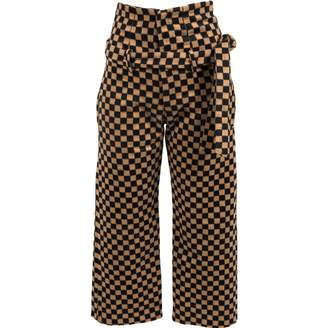 Jh.Zane Jh.zane Brown Wool Trousers