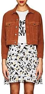 A.L.C. Women's Cotton Corduroy Crop Trucker Jacket-Rust