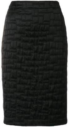 Talbot Runhof textured pencil skirt