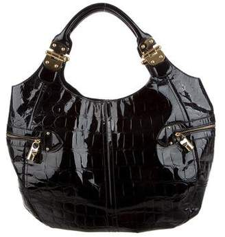 Alexander McQueen Embossed Leather Hobo