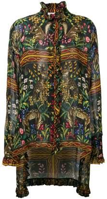 Philosophy di Lorenzo Serafini animal print sheer blouse