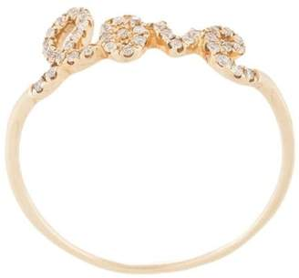 Sydney Evan 14kt yellow gold love diamond ring