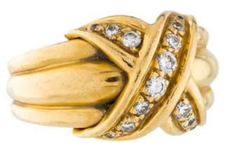 Tiffany & Co. 18K Diamond Large Signature Ring yellow 18K Diamond Large Signature Ring