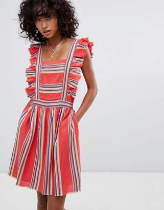 d.RA Malibu Ruffle Front Dress