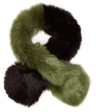 Charlotte Simone - Polly Pop Faux Fur Scarf - Womens - Khaki