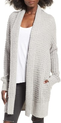 Leith Waffle Knit Cardigan $85 thestylecure.com