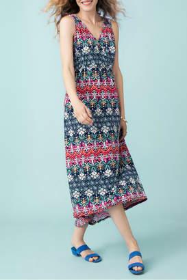 Tribal High low maxi dress