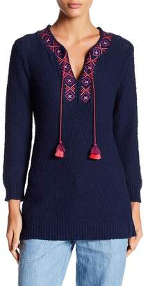Tommy Bahama Front Tassel Knit Sweater