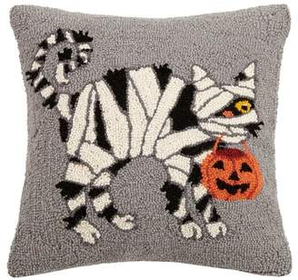 The Holiday Aisle Mcgriff Cat Mummy Hook Wool Throw Pillow