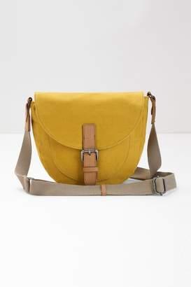 2c9eaf62321073 Next Womens White Stuff Yellow Bailey Saddle Canvas Cross Body Bag