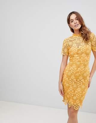 Paper Dolls Mustard Daisy Crochet Dress