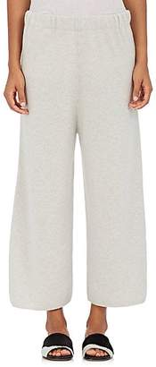 Barneys New York Women's Stockinette-Stitched Cashmere Sweatpants - Light Gray