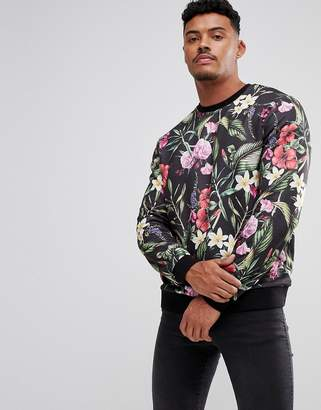 Asos Sweatshirt With Floral Print