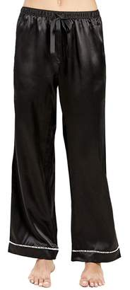 MORGAN LANE Chantal Metallic Ornament Silk PJ Pant
