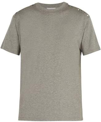 Valentino Rockstud Untitled #9 Cotton T Shirt - Mens - Grey