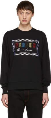 Versus Black 90s Logo Sweatshirt