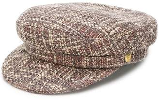 Manokhi tweed biker hat