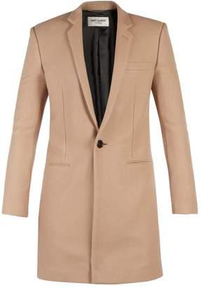 Saint Laurent - Single Breasted Cashmere Coat - Mens - Camel
