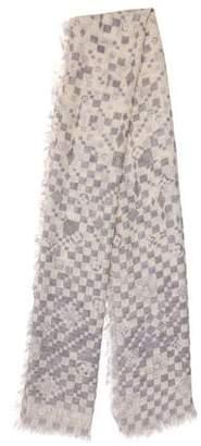 Louis Vuitton Damier Cashmere Silk Stole