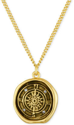 Rachel Roy Gold-Tone Compass Pendant Necklace