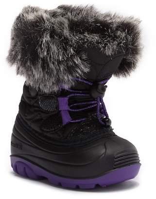 Kamik Lychee Faux Fur Trimmed Waterproof Winter Boot (Toddler)