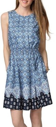 Women's Donna Morgan Border Print Fit & Flare Dress $98 thestylecure.com