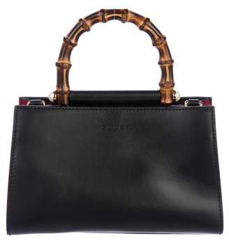 Gucci 2017 Small Nymphaea Bamboo Top Handle Bag