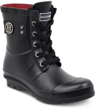Tommy Hilfiger Trineti Lace-Up Rain Boots Women Shoes