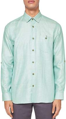 Ted Baker Jaames Linen Regular Fit Button-Down Shirt