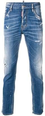 DSQUARED2 paint splatter effect Skater jeans