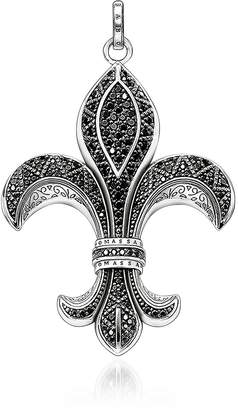 Thomas Sabo Rebel Icon Sterling Silver Bourbon Lily Pendant w/ Cubic Zirconia