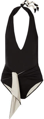 Stella McCartney Ballet Belted Halterneck Swimsuit - Black