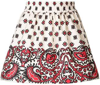 RED Valentino bandana gathered skirt