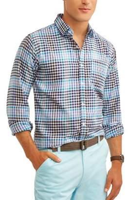 SWISS CROSS Swiss Cross Roadblock Men'S Long Sleeve Yarn Dyed Plaid Woven Shirt Shirt