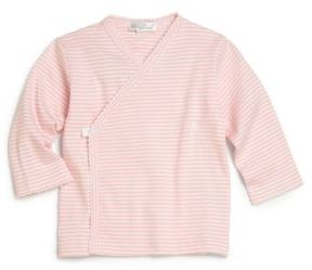 Kissy Kissy Baby's Pink-Striped Wrap Top $19 thestylecure.com