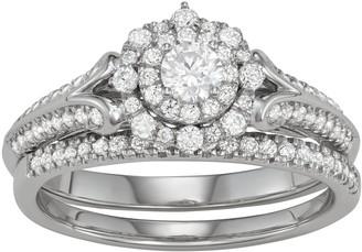 Vera Wang Simply Vera 14k White Gold 5/8 Carat T.W. Diamond Engagement Ring